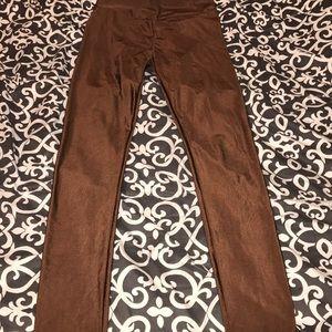 Pants - NWOT golden brown hi waisted legging yoga workout